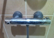scaled shower fittings