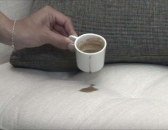 coffee stains on sofa