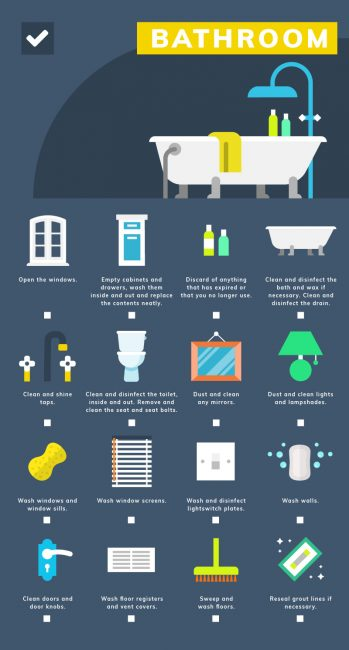 Bathroom Spring Cleaning Checklist by Cleaner Cleaner