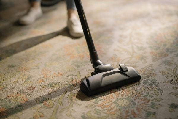 always vacuum rugs before cleaning